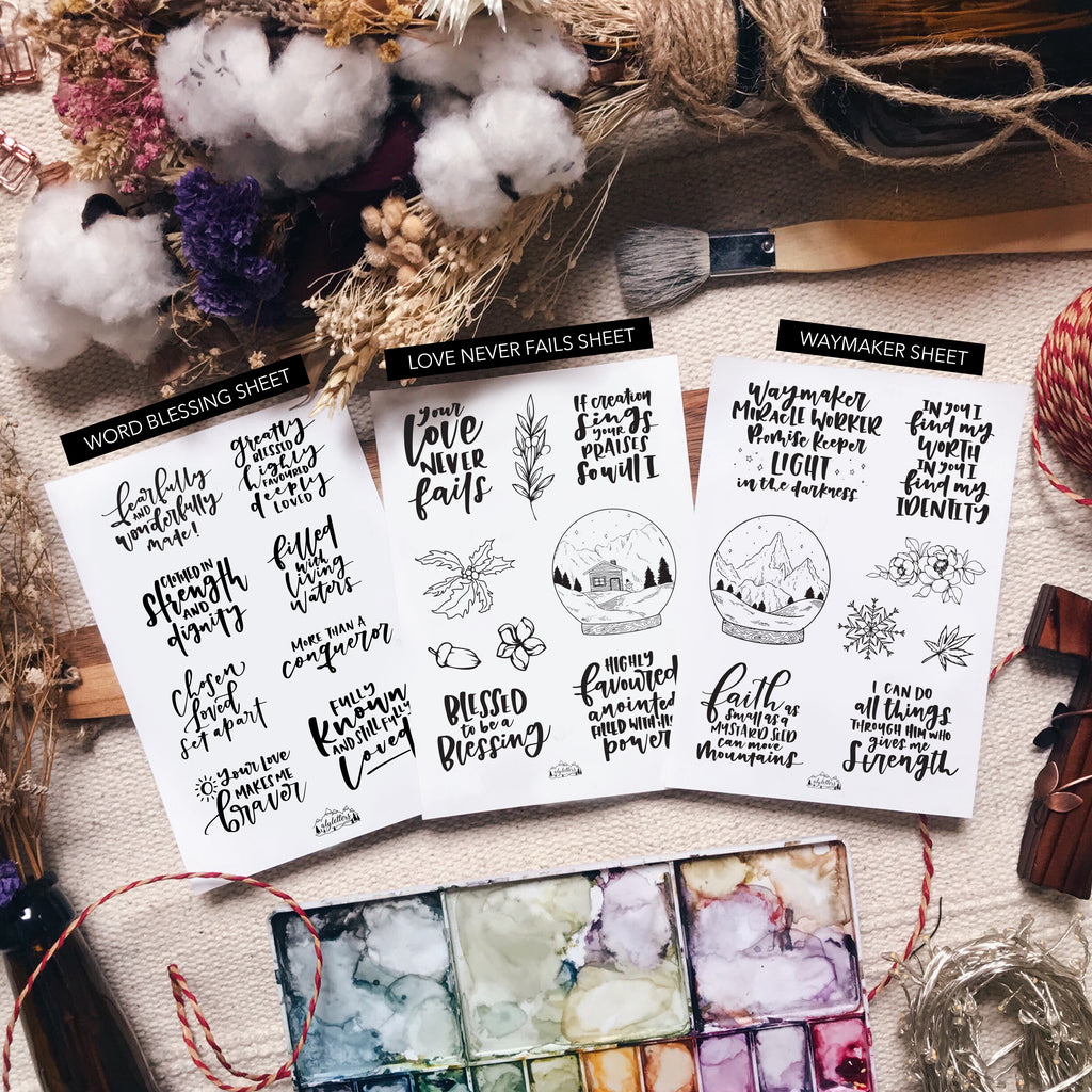 Highly Favoured - Sticker Sheet Bundle