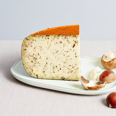 Matured to perfection, the best ''Mushrooms & Chestnuts Cheese' comes from Holland!
