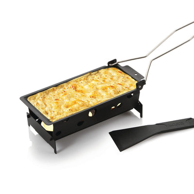 A 'Raclette' the ultimate way to melt your cheeses. Made of high-quality stainless steel!