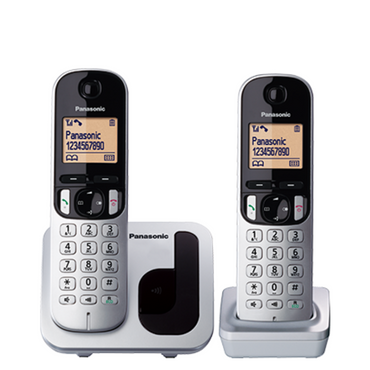 Panasonic Cordless Phone KX-TGC212, with two handsets.