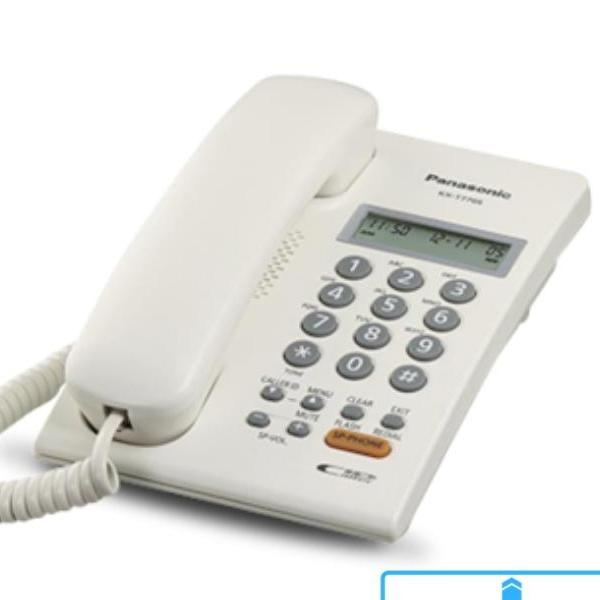 White Panasonic Corded Phone KX-T7705 with speakerphone