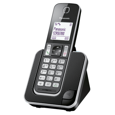 Panasonic Black Cordless Phone KX-TGD310.