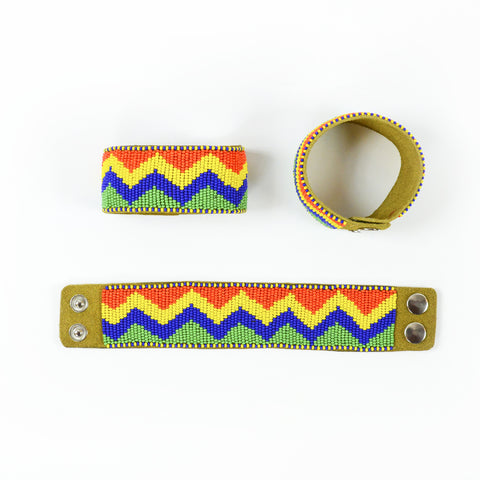 Arnold - Leather Beaded Bracelet