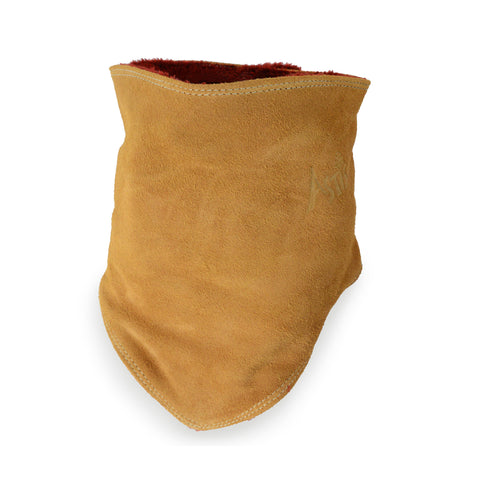 Leather Facemask - Brown