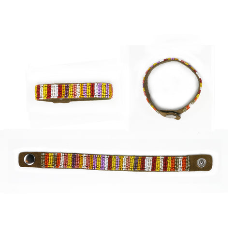 Ganges - Leather Beaded Bracelet