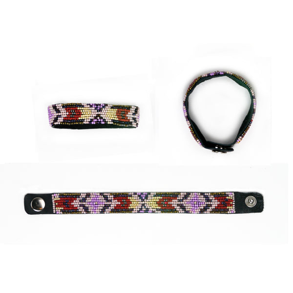 Indus - Leather Beaded Bracelet