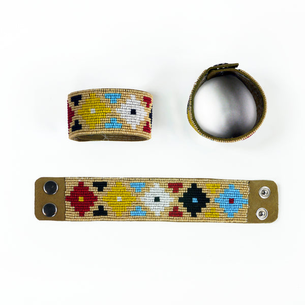 Salween - Leather Beaded Bracelet