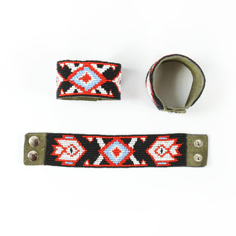 Volga - Leather Beaded Bracelet