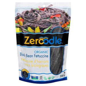(Case of 6) Zeroodle - Organic Black Bean Pasta - Fettuccine - 7oz/200g