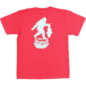 Red Heather / Y-S Aftco Boy's Big foot Tee Aftco