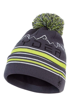 Ebony Sharp Lime Spyder Boys' Icebox Beanie SPYDER ACTIVE SPORTS INC
