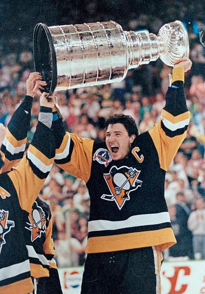 Lemieux with the first Stanley Cup