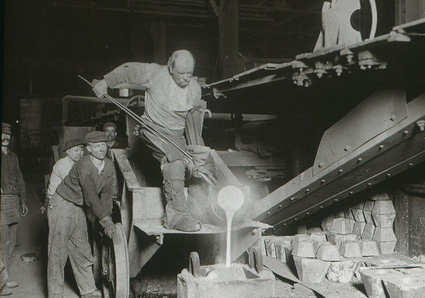 Steel mill workers in Pittsburgh