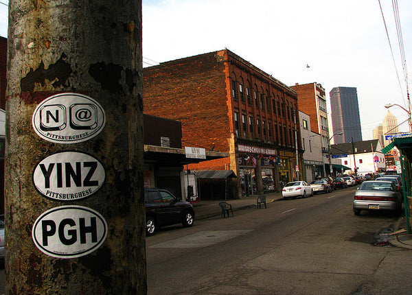 A street in Pittsburgh, Downtown in Pittsburgh
