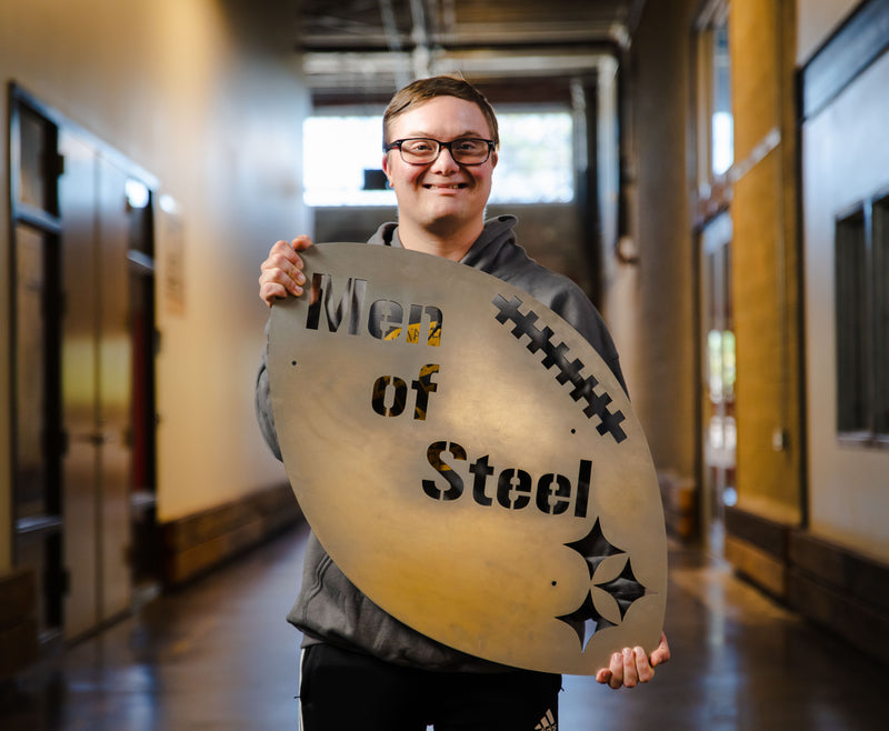 Pittsburgh Men of Steel Wall Art Piece
