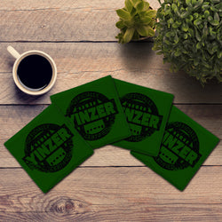 Certified Yinzer | Black & Green | Drink Coasters