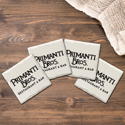 Black Primanti Bros. Logo | Drink Coasters