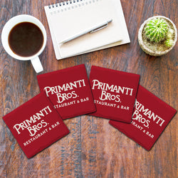 Primanti Bros. | Logo White on Red | Drink Coasters