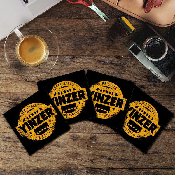 Certified Yinzer | Black & Yellow | Drink Coasters