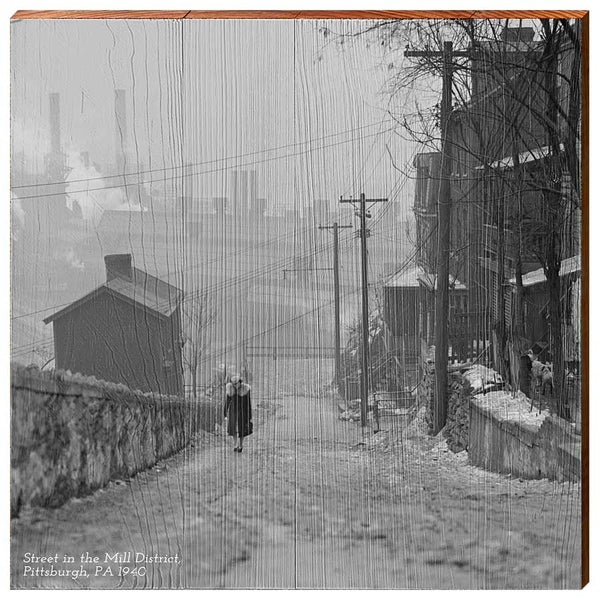 Street in the Mill District, Pittsburgh, PA, 1940-YINZERshop.com