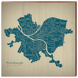 Pittsburgh Neighborhoods Map-YINZERshop.com