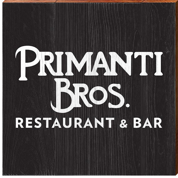 Primanti Bros. | White on Black Logo | Real Wood Sign