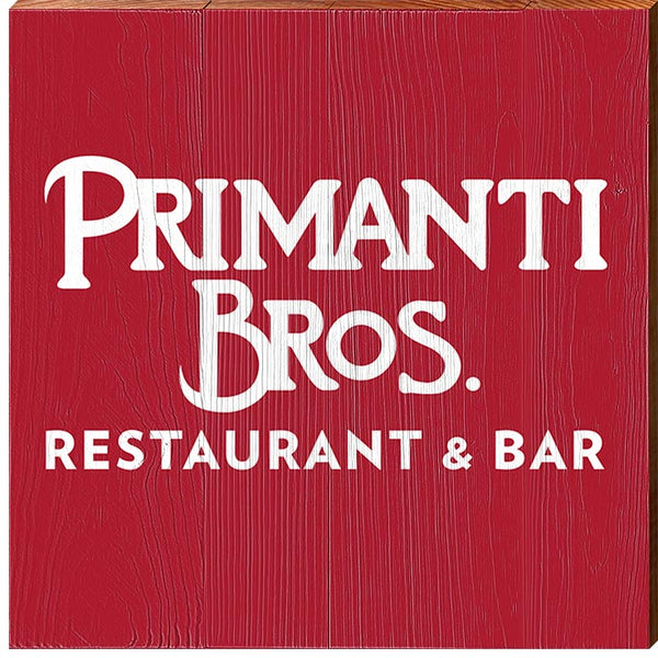 Primanti Bros. | White on Red Logo | Real Wood Sign