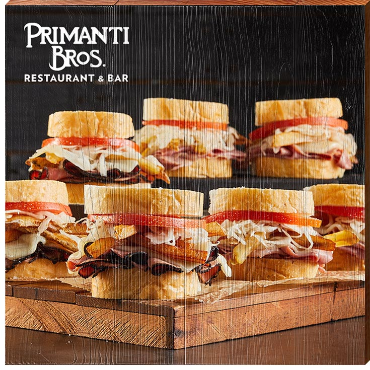 Primanti Bros. | Sandwich Tower | Real Wood Sign