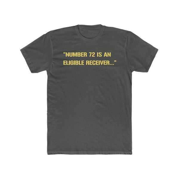 Number 72 is an Eligible Receiver T- Shirt