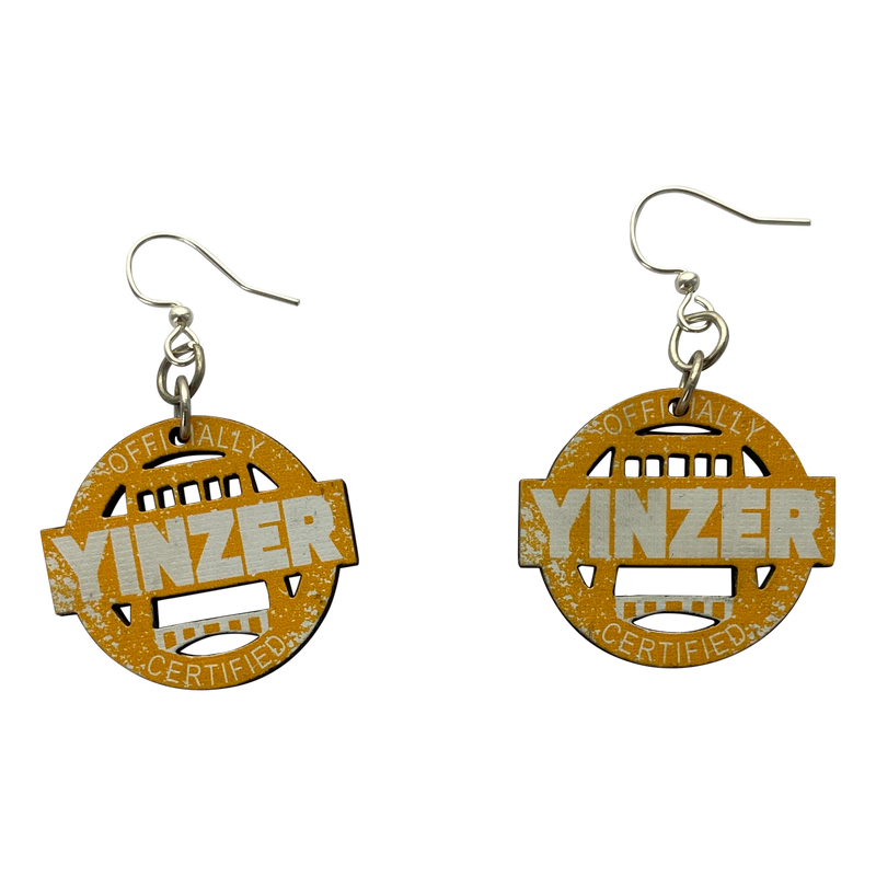 Certified Yinzer Wooden Earrings