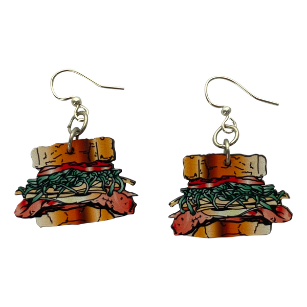 Primanti Bros. Sandwich Wooden Earrings