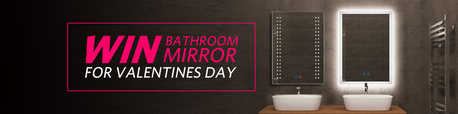 To celebrate Valentine's Day we're giving away two LED Illuminated Bathroom Mirror