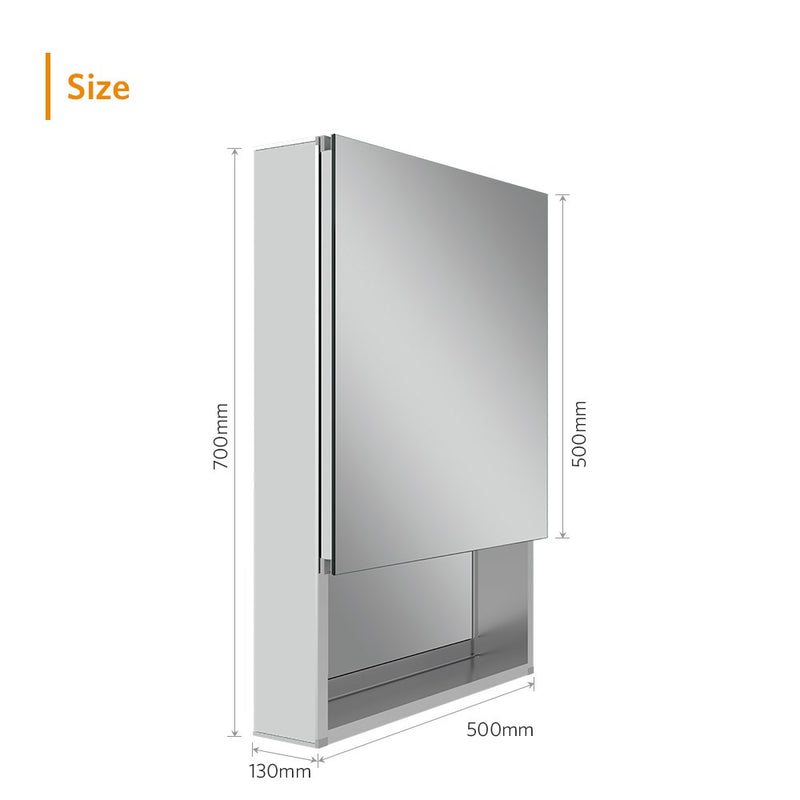 Quavikey Bathroom Mirror Storage Cabinet Hollow Out Style 500 x 700 MM