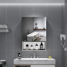 Load image into Gallery viewer, Quavikey Bathroom Mirror Storage Cabinet Hollow Out Style 500 x 700 MM