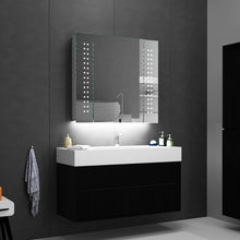 Load image into Gallery viewer, Quavikey 650 x 600mm LED Illuminated Bathroom Mirror Cabinet Aluminum Bathroom Mirror With Shaver Socket Demister Spot Lights