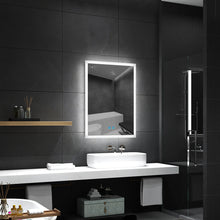 Load image into Gallery viewer, Quavikey 500 x 700mm LED Illuminated Aluminum Bathroom Mirror With Lights And Demister (No cabinet)