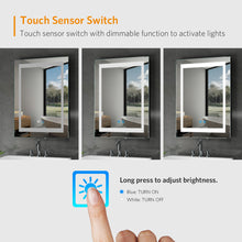 Load image into Gallery viewer, Quavikey 500 x 700mm LED Illuminated Aluminum Bathroom Mirror With Demister Pad (No cabinet)
