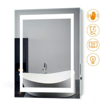 Load image into Gallery viewer, Quavikey 500 x 700mm LED Illuminated Aluminum Bathroom Mirror With Shaver Socket (No cabinet)