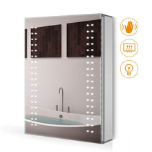 Load image into Gallery viewer, Quavikey 500 x 700mm LED Illuminated Aluminum Bathroom Mirror Cabinet Spot Lights