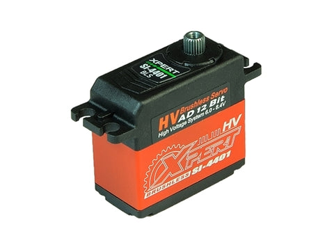 "XPERT RC SI-4401-HV ALUMINUM CASE ""SUPER TORQUE"" HIGH VOLTAGE BRUSHLESS SERVO"