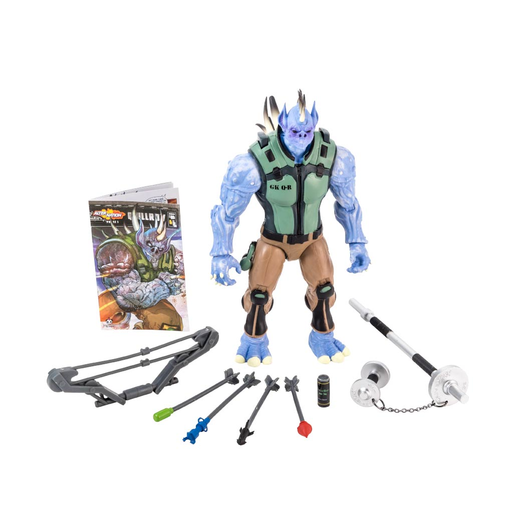 Alter Nation Quillroy Action Figure Full Accessories
