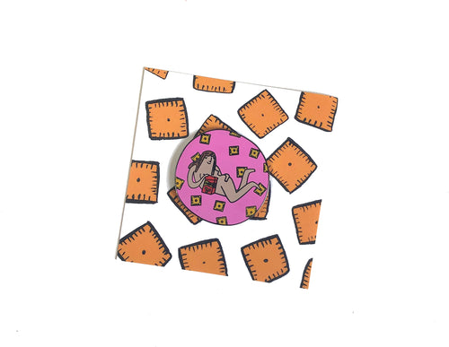 Cheez It Girl Pin