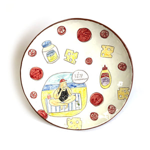 I Love this Sandwich Plate