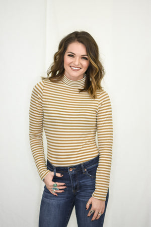 Striped In Gold Top