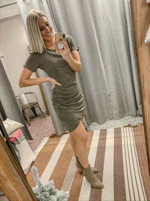 Simply Scrunch Dress Olive