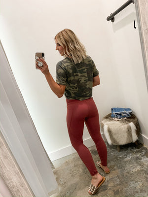 Keeping it Classic Leggings Dark Mauve