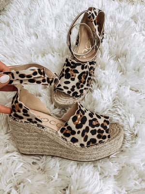 Leopard Suede Wedges