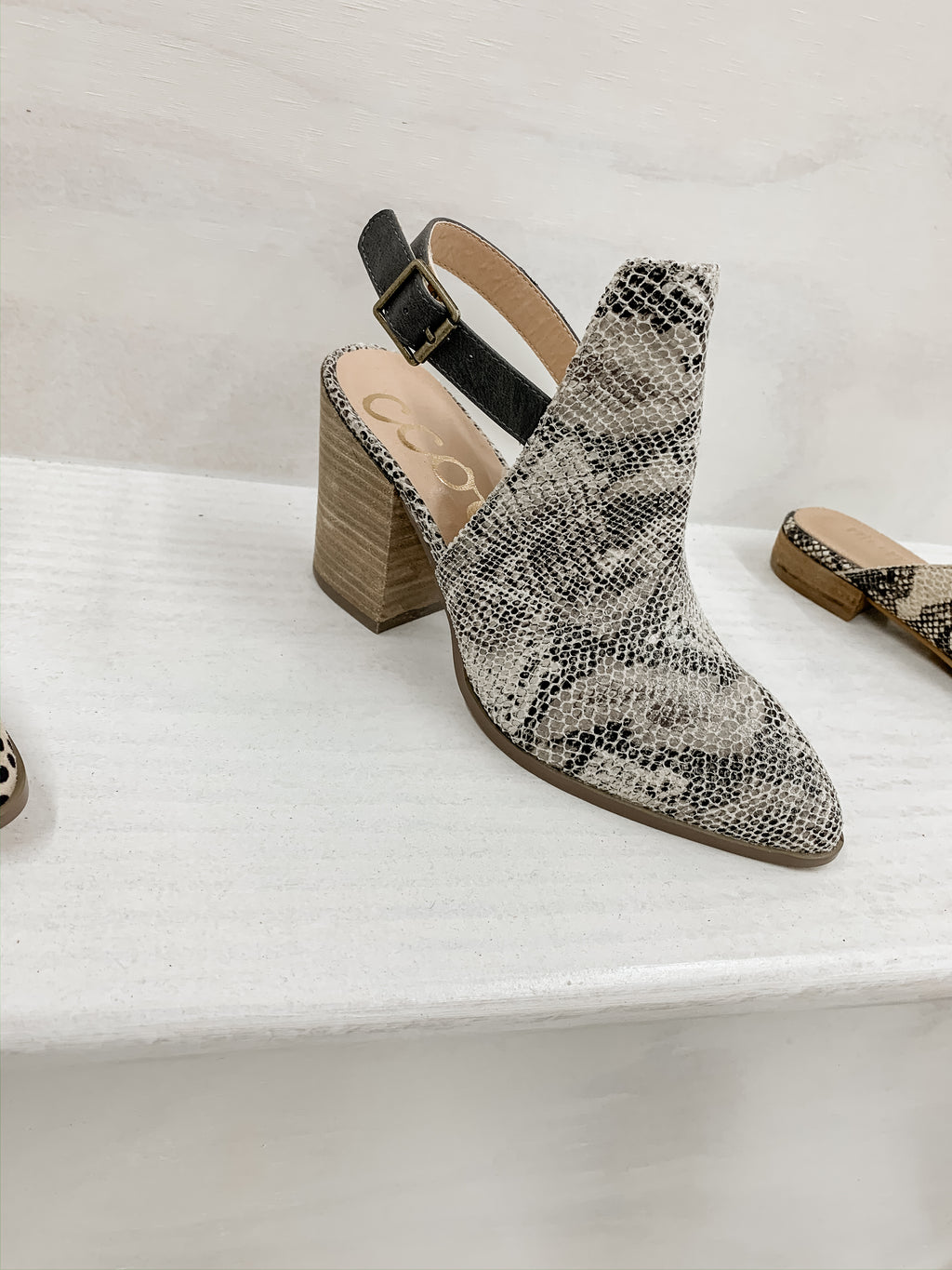 Snake Strapy Mules