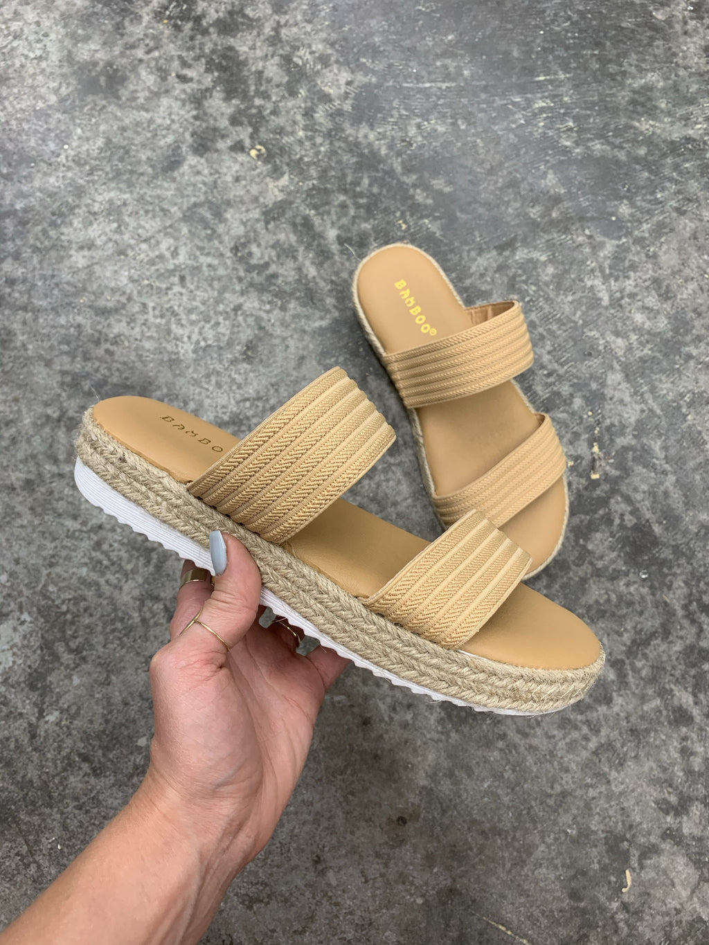 Natural Strap Cloud Shoes