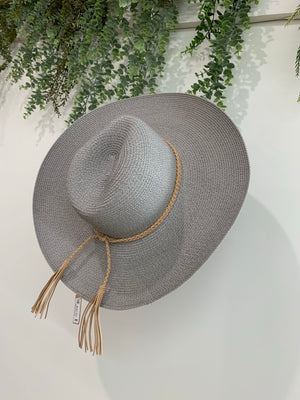 Gray Rope Hat
